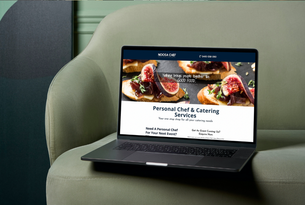 Noosa Chef: Brand and One Page Website Design