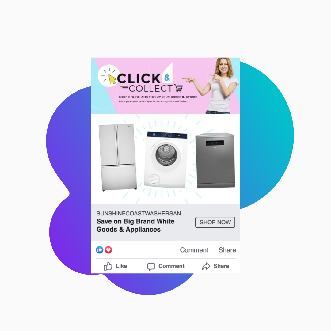 Sunshine Coast Washers and Fridges – FB Ad Management
