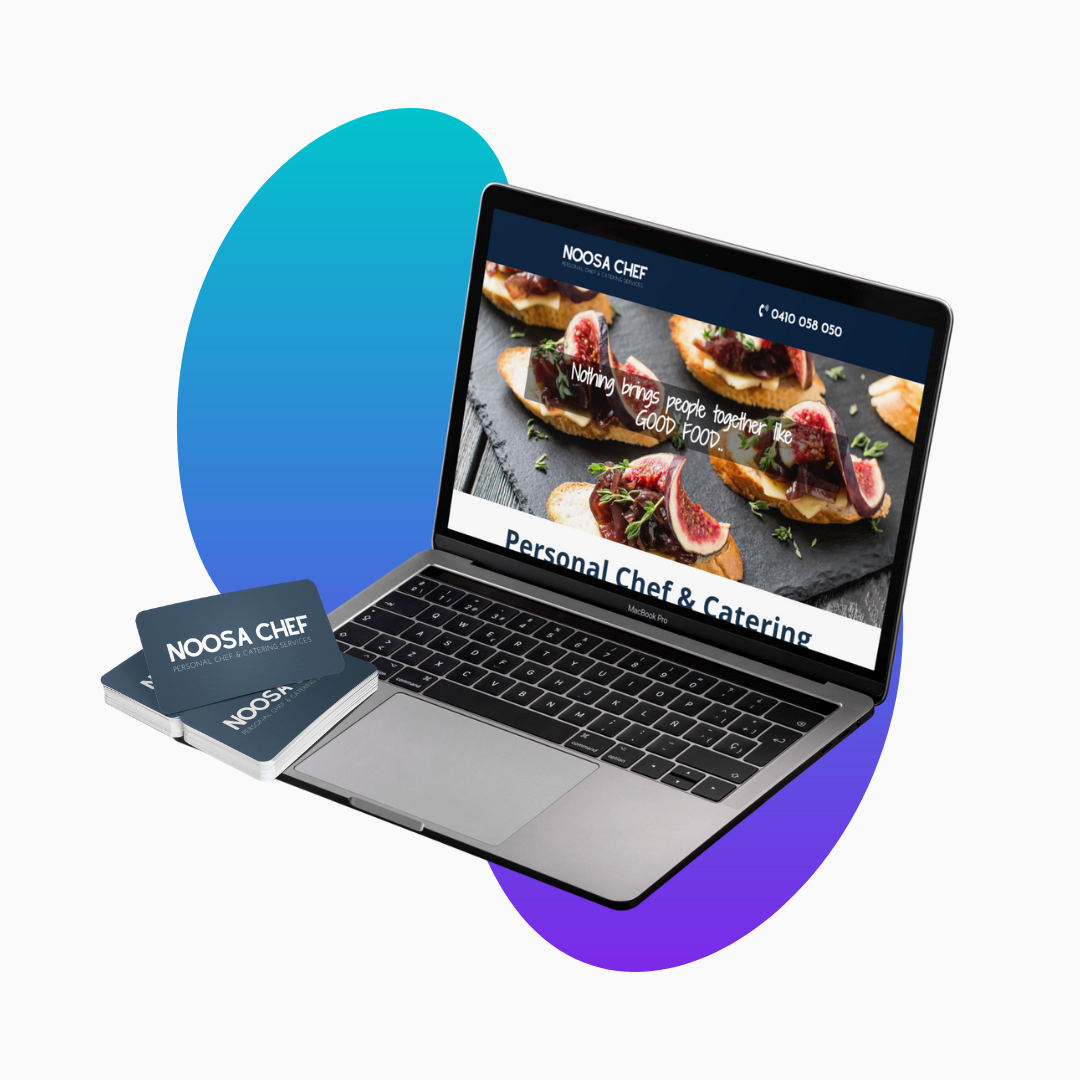 Noosa Chef – Brand and One Page Website Design